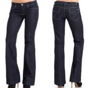 7 For All Mankind Dojo Wide Leg Bedazzled 30